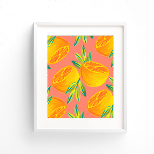 Orange Pair Art Print (4 Colors)