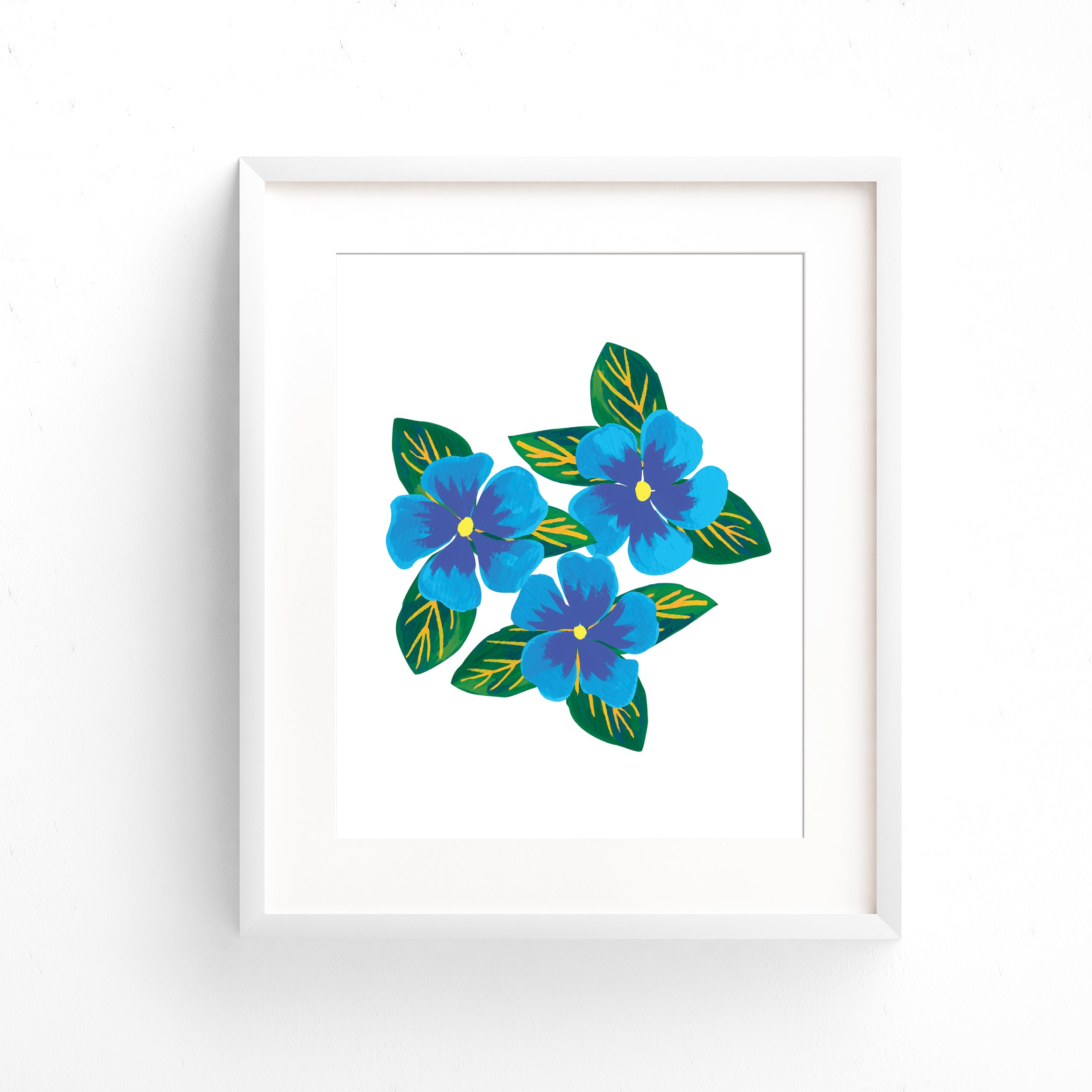 Blue Periwinkle Bouquet Art Print