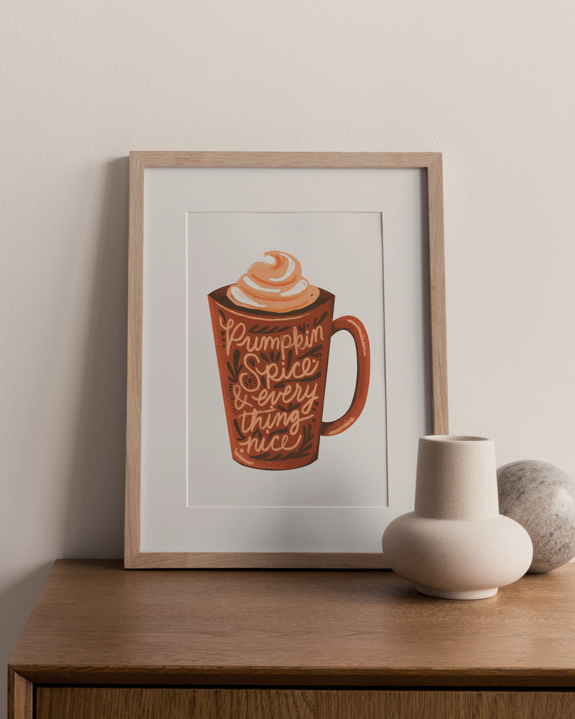Pumpkin Spice Digital Art Print