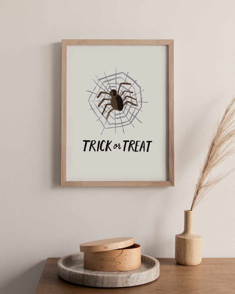 Trick or Treat Spider Digital Art Print
