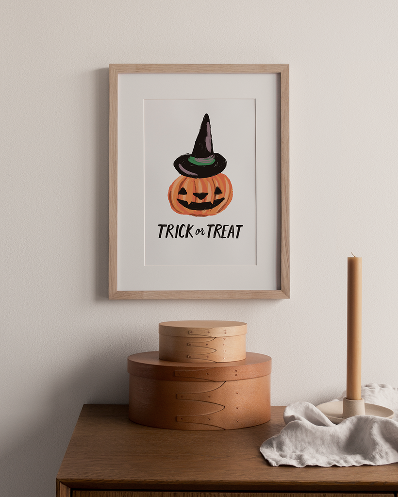 Trick or Treat Pumpkin Digital Art Print