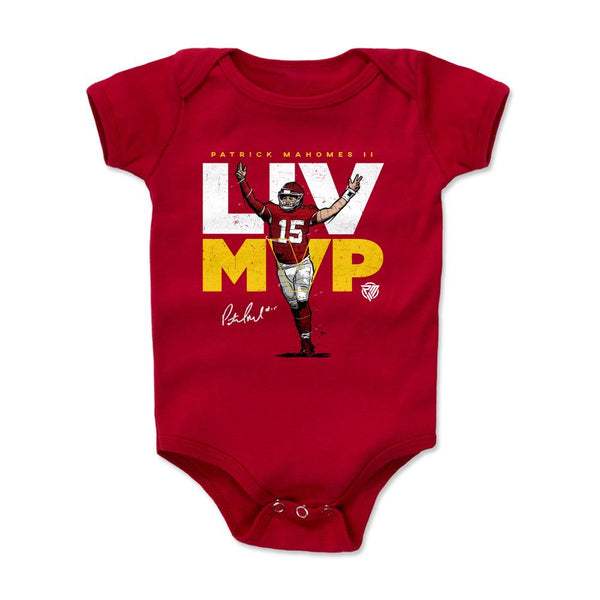 Patrick Mahomes LIV MVP Kids Baby Onesie in Kingdom Red