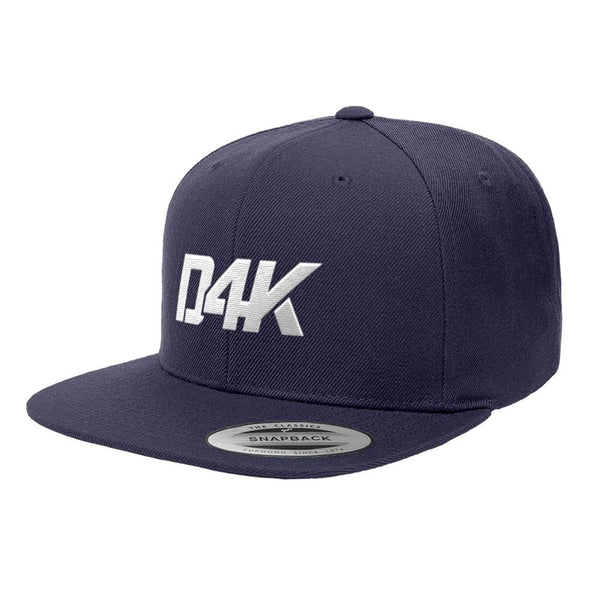 D4K Signature Snapback W Logo on Navy