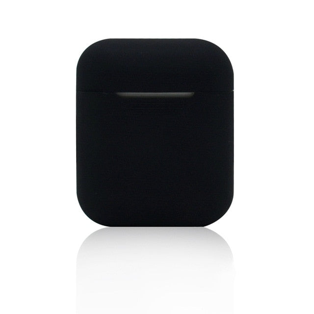 Oakland Black Shockproof Silicone Air Pods Case