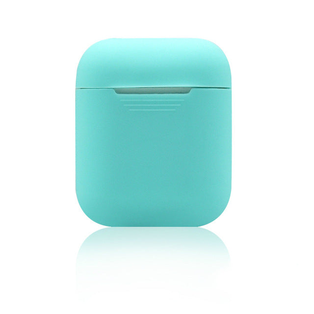 Miami Vice Blue Shockproof Silicone Air Pods Case