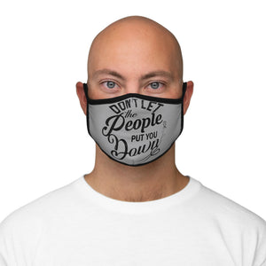 Fitted Polyester Face Mask-Motivational Face Mask Quote - JsFashionUS