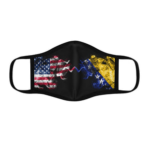 Bosnian US Face Mask-Fitted Polyester Face Mask - JsFashionUS