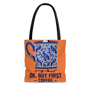 AOP Tote Bag-First Coffee Tote Bag - JsFashionUS