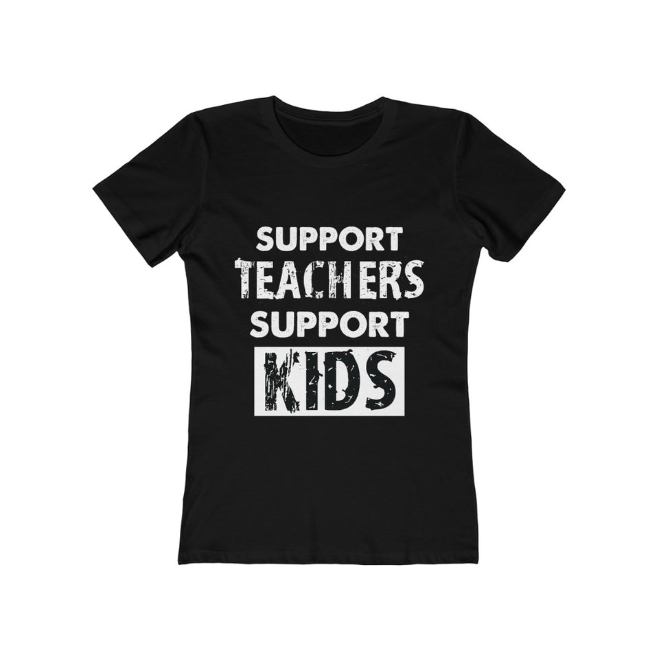 Support Teachers-Support Kids-Women's Tee - JsFashionUS