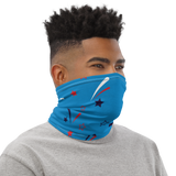 Neck Gaiter- Pattern Stars Neck Gaiter-Headband - JsFashionUS