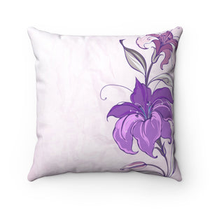 Flower Art Pillow-Spun Polyester Square Pillow - JsFashionUS
