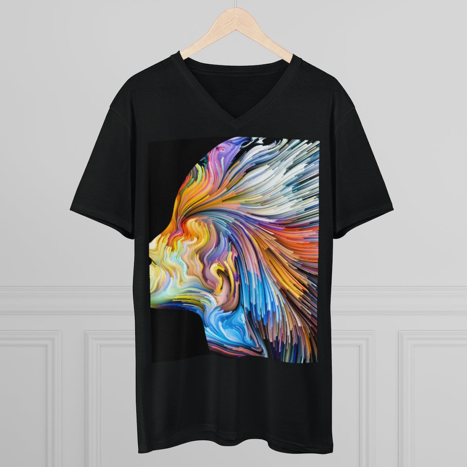 Colors Of Imaginations Men's V-Neck Tee-Men's Lightweight V-Neck Tee - JsFashionUS