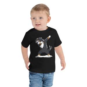 Toddler Short Sleeve Tee-Dancing dog T-Shirt - JsFashionUS