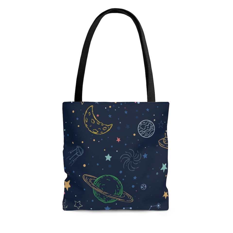Space Pattern Tote Bag-AOP Tote Bag - JsFashionUS