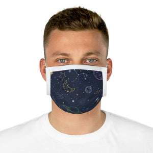 Cotton Face Mask (EU)-Space Pattern Face Mask - JsFashionUS