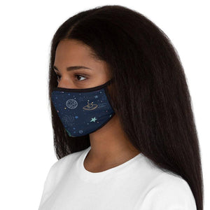 Fitted Polyester Face Mask-Space Pattern Face Mask - JsFashionUS