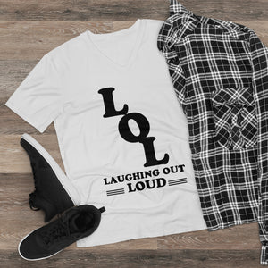 Laughing Out T-shirt-Men's Lightweight V-Neck Tee - JsFashionUS