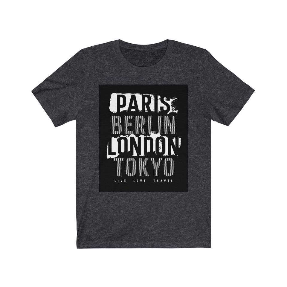 Paris T-shirt-Berlin T-shirt-London T-shirt-Tokyo T-shirt-Unisex Tee - JsFashionUS