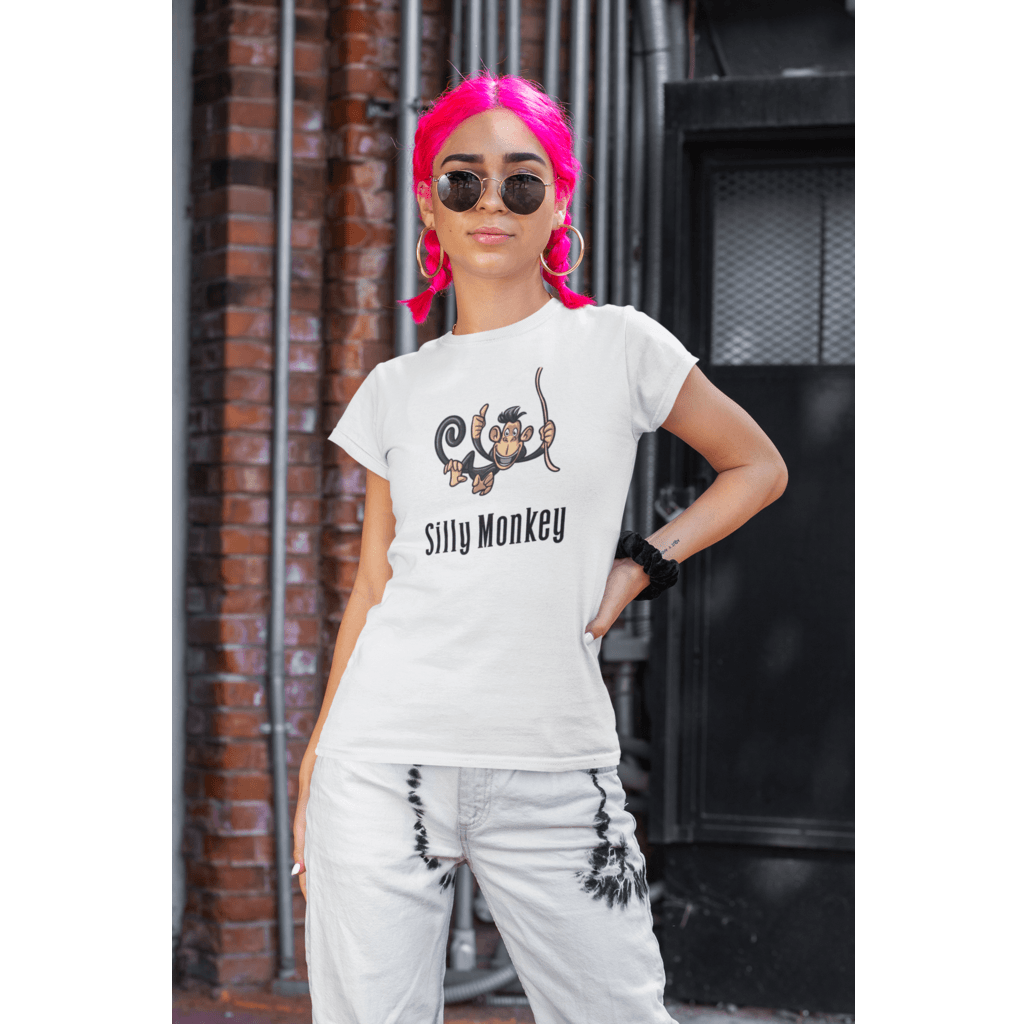 Silly Monkey Tee-Women's The Boyfriend Tee - JsFashionUS