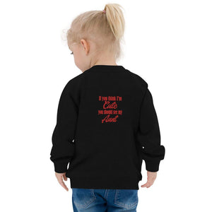 If You Think I'm Cute You Should See My Aunt-Baby Organic Bomber Jacket - JsFashionUS