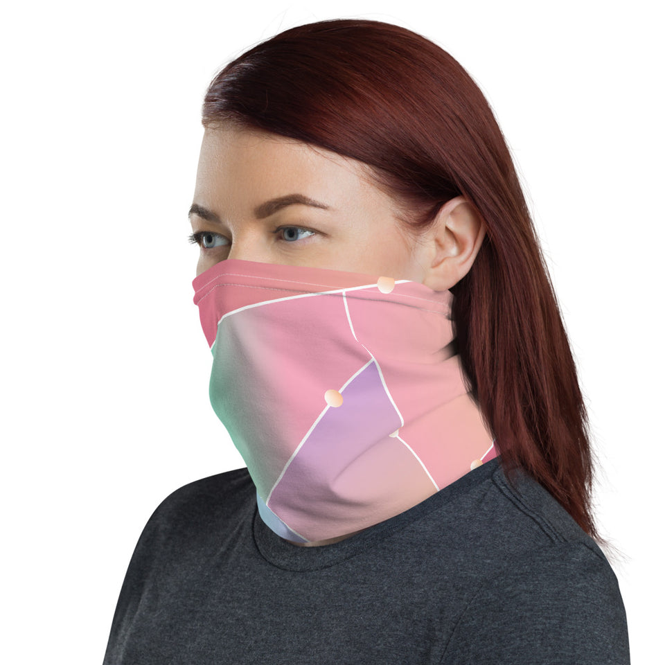 Neck Gaiter-Glass Pattern Neck Gaiter-Headband - JsFashionUS