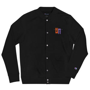 Embroidered Champion Bomber Jacket-Js Fashion Jacket - JsFashionUS