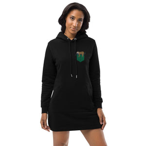 Pocket Hoodie dress-Sloth Fake Pocket Hoodie Dress - JsFashionUS