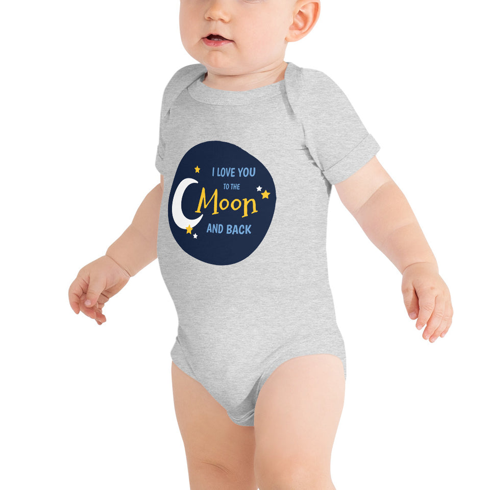 T-Shirt-Funny Baby Clothing-Adorable Baby Onesie-Cute Babies Outfit-I Love You To The Moon And Back - JsFashionUS