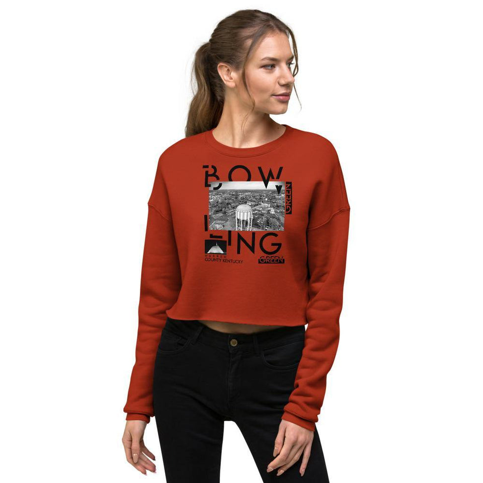 Bowling Green Ky Crop Sweatshirt - JsFashionUS