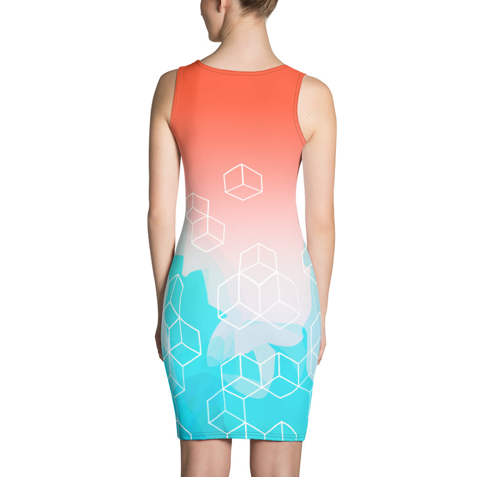 Sublimation Cut & Sew Dress-Women Dresses - JsFashionUS
