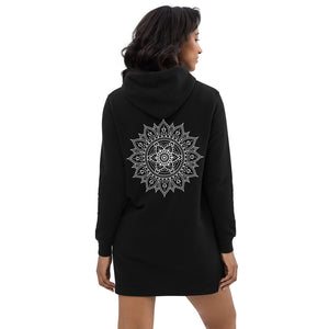 Hoodie dress-Mandala Design-Hoodie Dress With Mandala - JsFashionUS