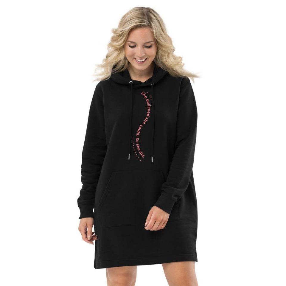 Hoodie Dress-She Believe Hoodie Dress - JsFashionUS