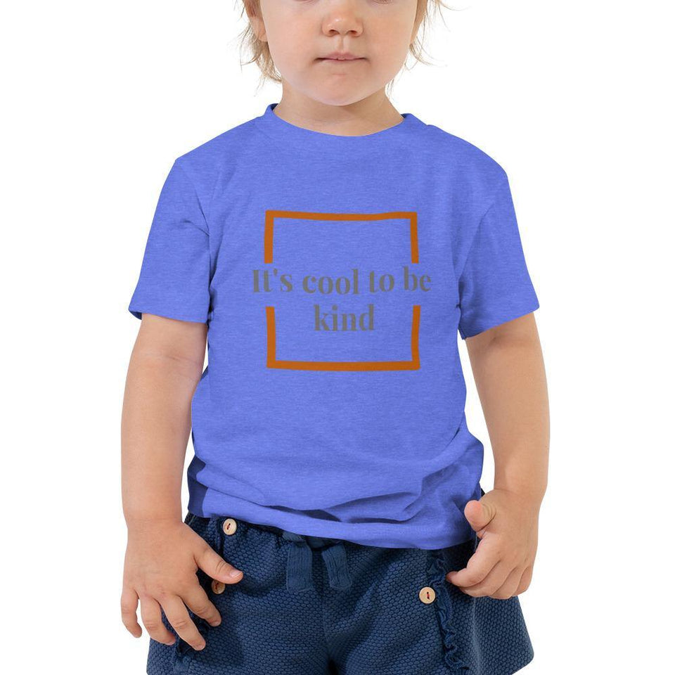 It's Cool To Be Kind-Toddler Short Sleeve Tee - JsFashionUS