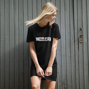 Roman Numeral Dress-Organic cotton t-shirt dress - JsFashionUS