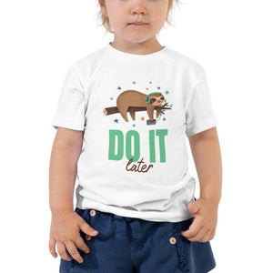 Toddler Short Sleeve Tee-Do It Later Toddler Tee - JsFashionUS