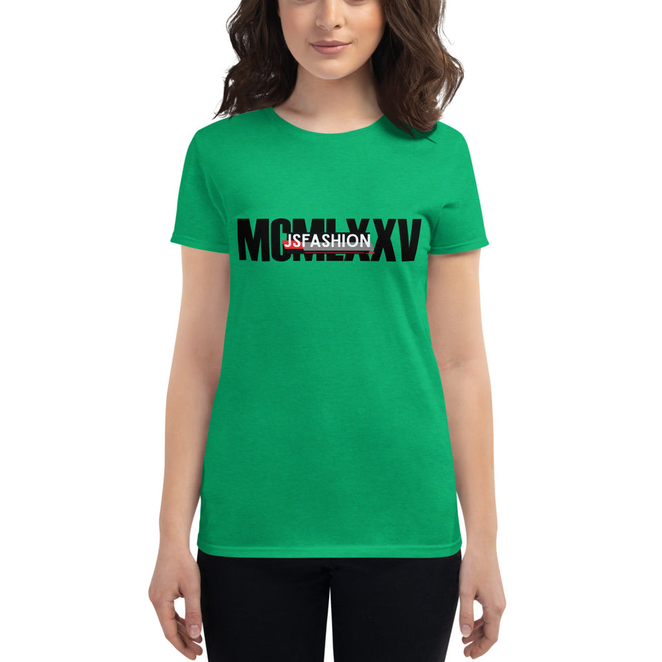 Roman Numeral T-shirt-Women's short sleeve t-shirt - JsFashionUS