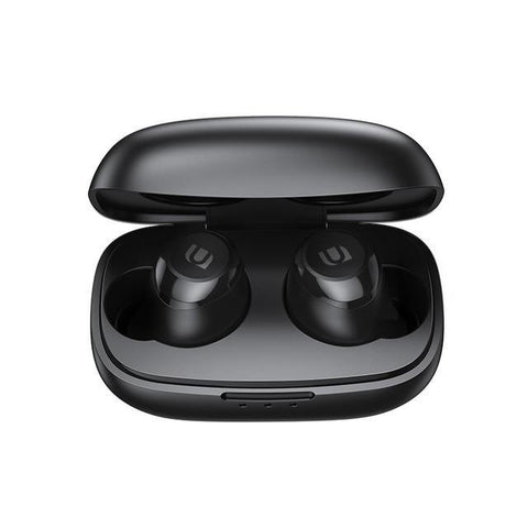 Image of Earbuds TWS stunning High Fidelity, Qualcomm technology, black. With charge indicator in the case