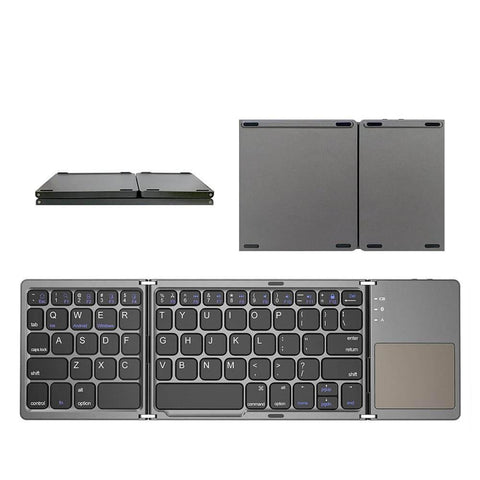 Image of Mini folding Bluetooth keyboard, with touchpad.