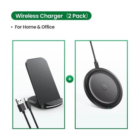 Multi wattage QI standing charger. Two units, for home and office.
