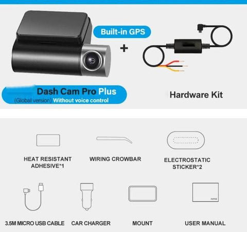 Smart Dash Cam Pro, VC 24H Parking. With GPS and Hardware Kit. No voice Control.