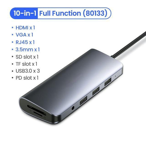 Image of USB HUB C HDMI Adapter 10 in 1