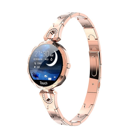 Image of Ladies' elegant, delicate golden smartwatch.