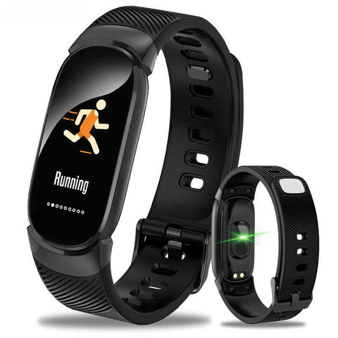 Athletes' stylish sports smartwatch,  black strap, beautiful and refined