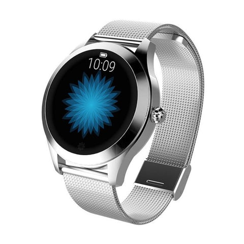 Image of Ladies' lovely kaleidoscope steel smartwatch. Steel strap.