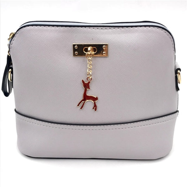 Bags for Women Hot Women's Handbags Leather Fashion Small Shell Bag with Deer Toy Women Shoulder Bag Casual Crossbody
