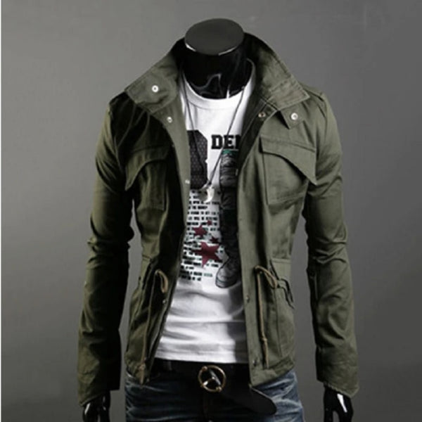 Jacket Men Spring Autumn Cotton Windbreaker Pilot Coat  Men's Bomber Jackets Cargo Flight Jacket Male Clothes