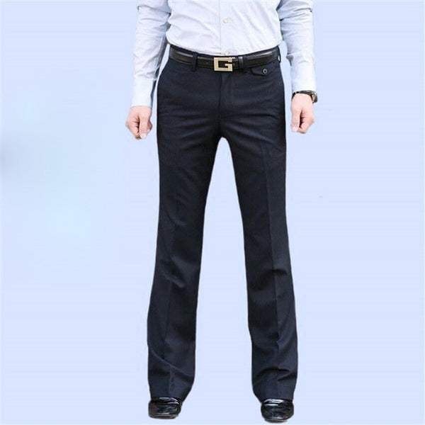 New Men's Flared Trousers Formal Pants Bell Bottom Pant Dance White Suit Pants Formal pants for Men Size 28-37