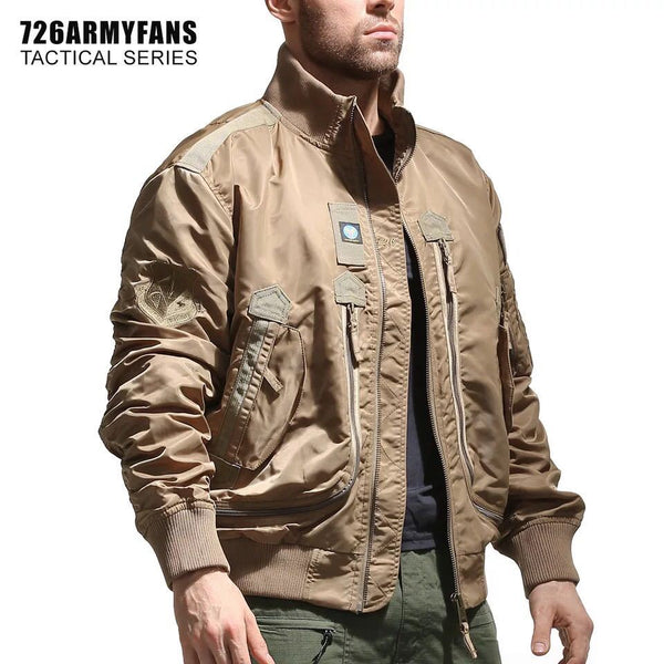 Fashion Army Jackets men pilot thin jacket men's baseball uniform tactical men's bomber jacket stand-collar jackets for men