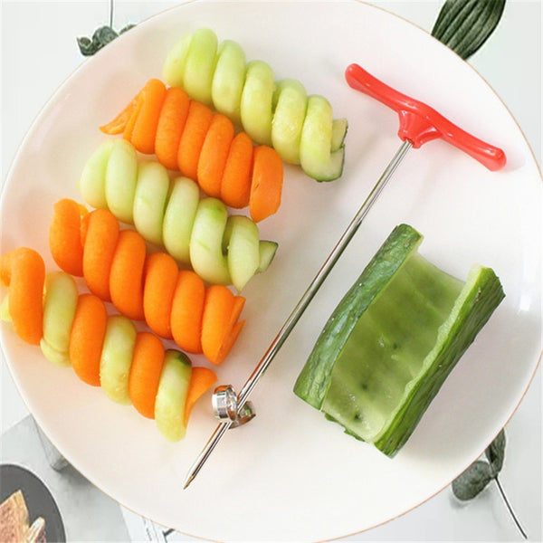 Kitchen Accessories Manual Roller Spiral Slicer Radish Potato Tools Vegetable Spiral Cutter Kitchen Fruit Carving Tools