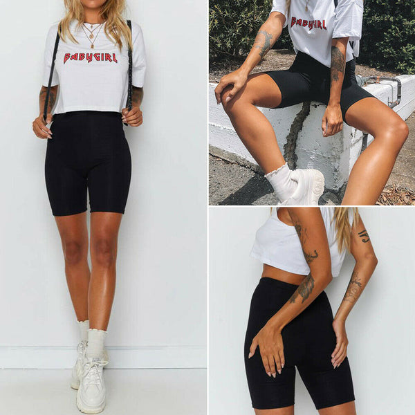 Ladies Cycling Shorts Dancing Gym Biker Active Casual Sports Skinny 2020 Summer New